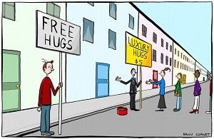 Free Hugs v Luxury Hugs
